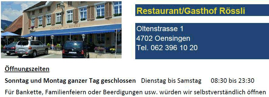 Restaurant Rössli - Oensingen