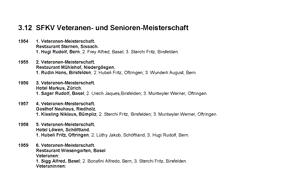 Das goldene Buch - SFKV-Senioren- und Veteranen-Meisterschaft