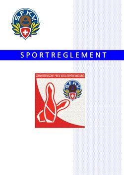 Sportreglement der SFKV